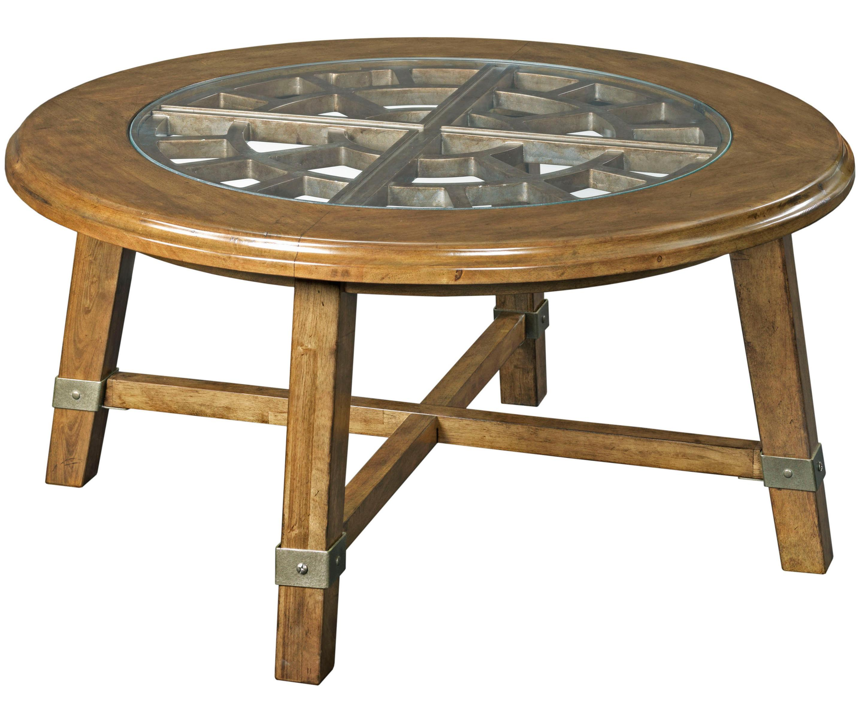 Broyhill Furniture New Vintage Round Grid Cocktail Table - Item Number: 4808-003