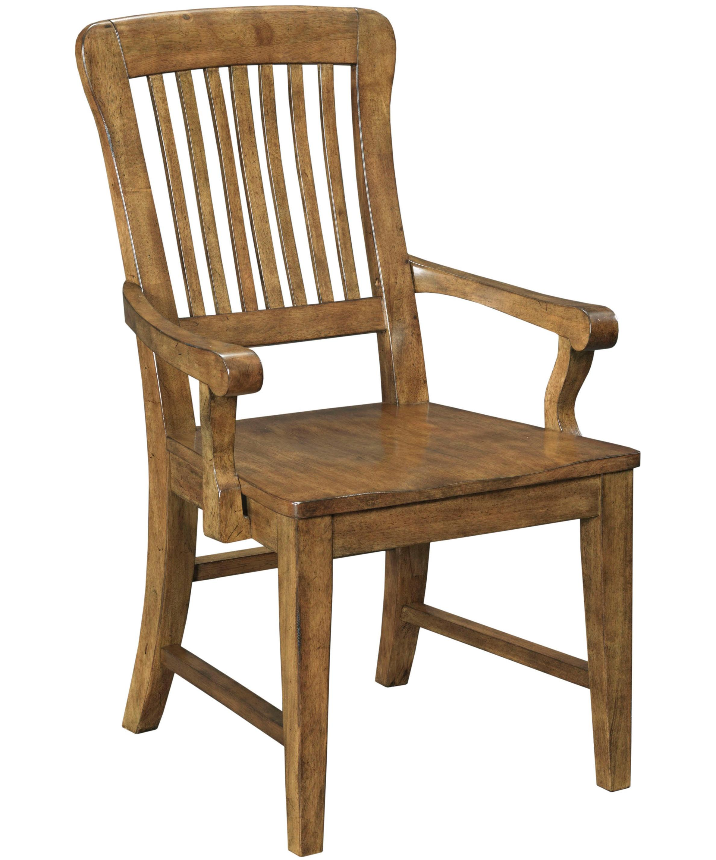 Broyhill Furniture New Vintage School House Wood Seat Arm Chair - Item Number: 4808-580