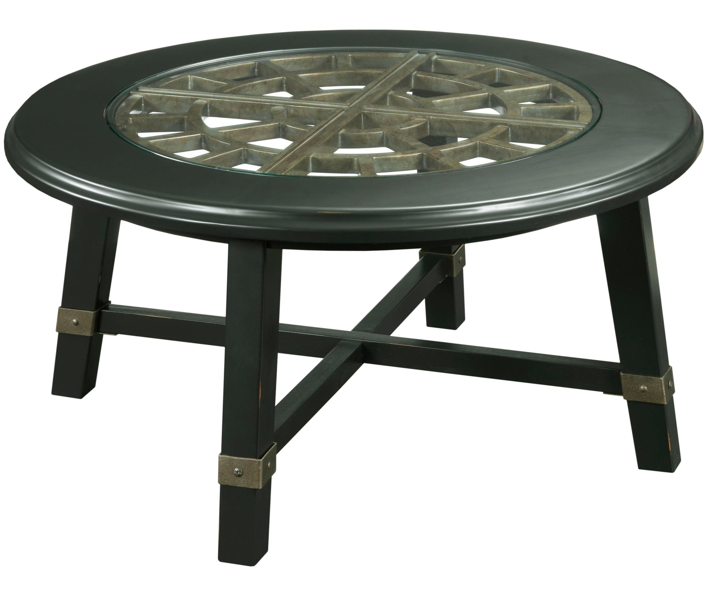Broyhill Furniture New Vintage Round Grid Cocktail Table - Item Number: 4809-003