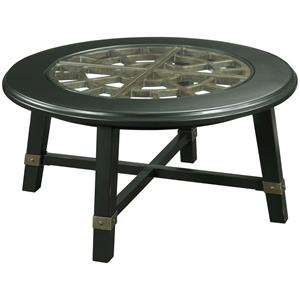 Broyhill Furniture New Vintage Round Grid Cocktail Table