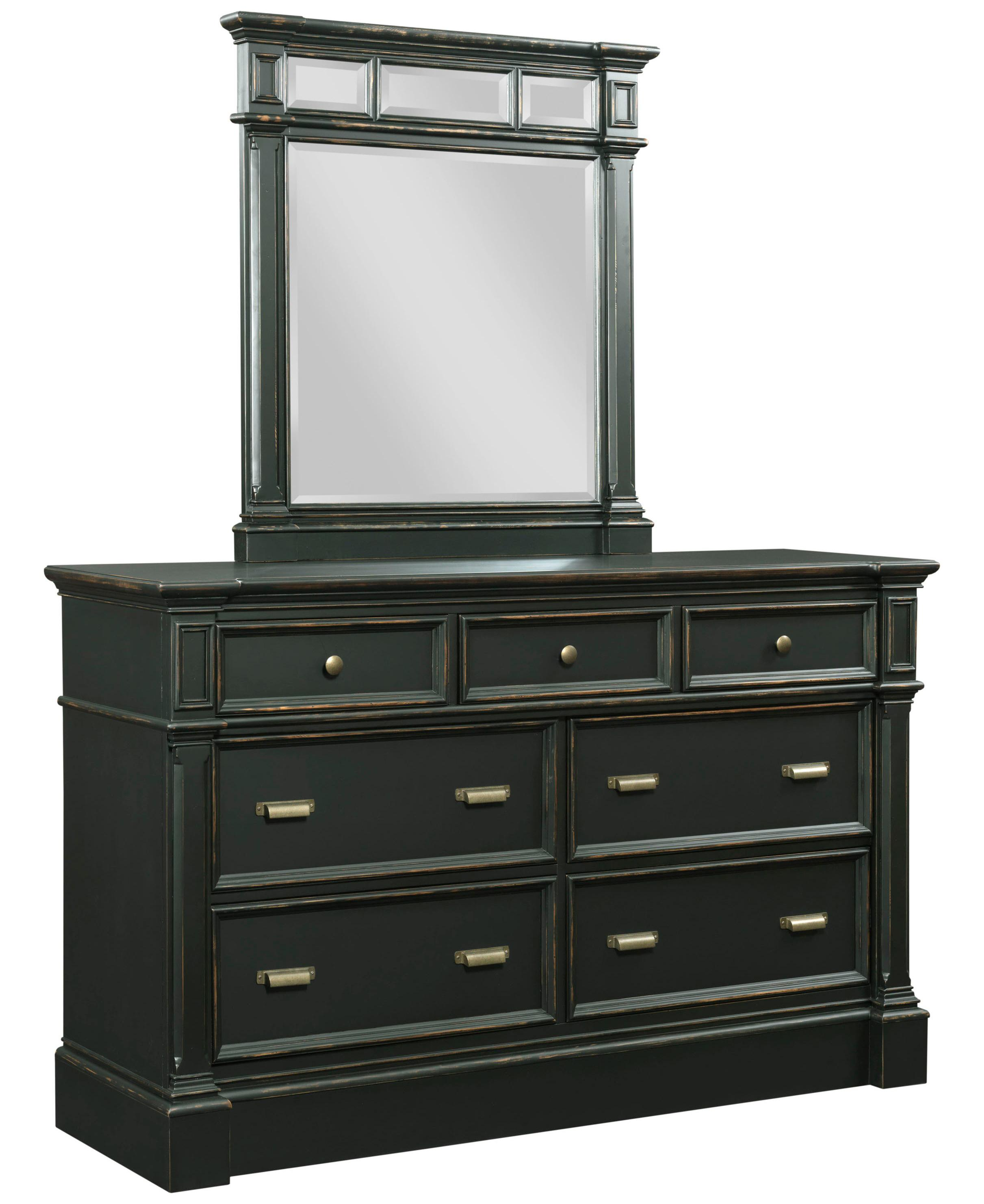 Broyhill Furniture New Vintage Dresser and Mirror Set - Item Number: 4809-230+7