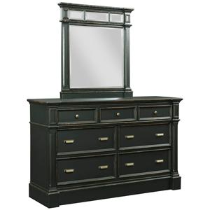 Broyhill Furniture New Vintage Dresser and Mirror Set