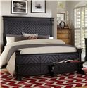 Broyhill Furniture New Vintage King Chevron Bed - Item Number: 4809-264+268+470