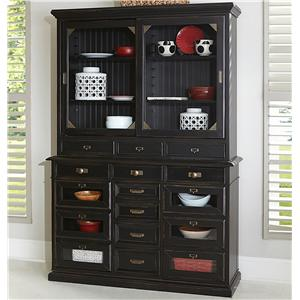 Broyhill Furniture New Vintage Server with Hutch