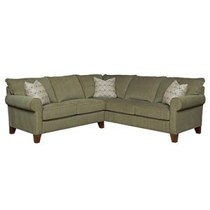 Broyhill Furniture Noda Transitional Sectional Sofa