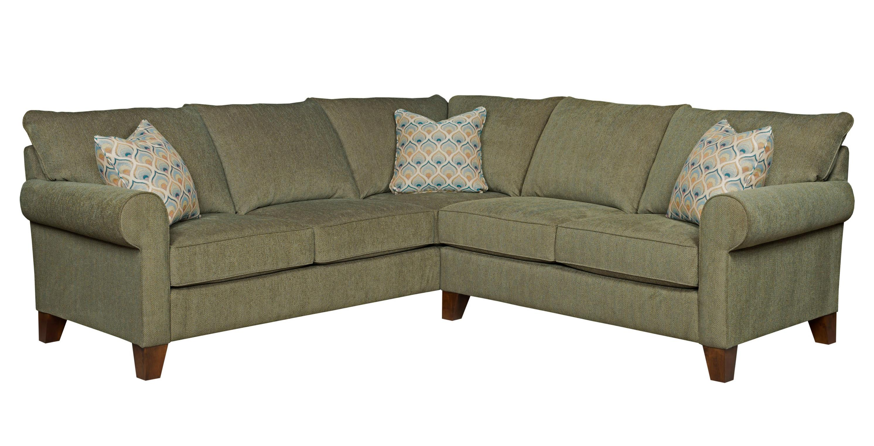 Broyhill Furniture Noda Transitional Sectional Sofa - Item Number: 4231-2+4-4075-27