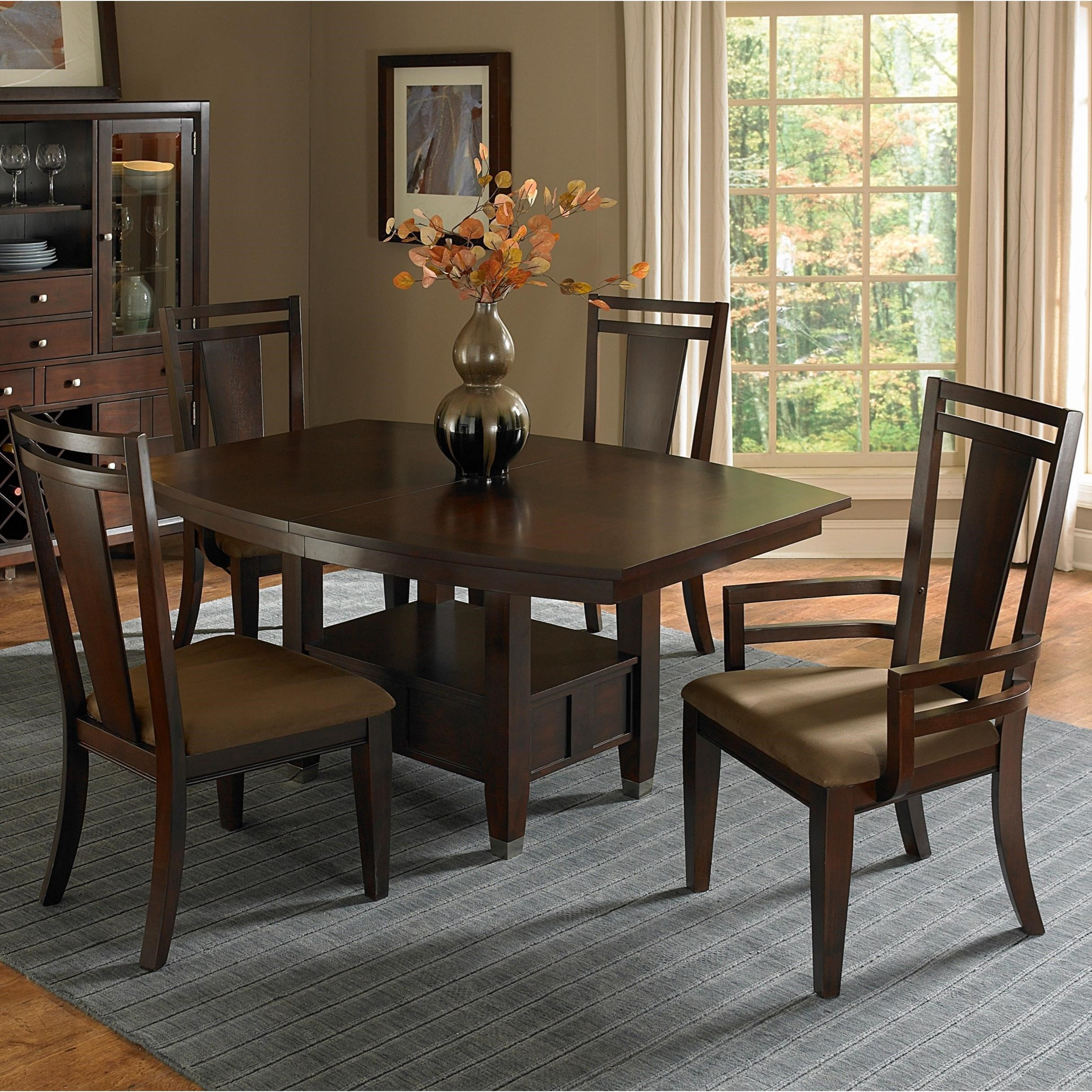 Broyhill Furniture Northern Lights 5 Piece Table and Chair Set - Item Number: 5312-31+50+2x80+2x81