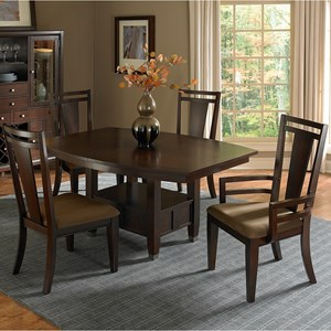 Broyhill Furniture Northern Lights 5 Piece Table and Chair Set