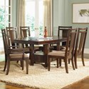 Broyhill Furniture Northern Lights 7 Piece Table and Chair Set - Item Number: 5312-31+50+2x80+4x81