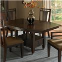 Broyhill Furniture Northern Lights 7 Piece Adjustable Height Dining Table and Upholstered Seat Side Chair Set - 5312-50+31+6x81 - Adjustable Height Dining Table