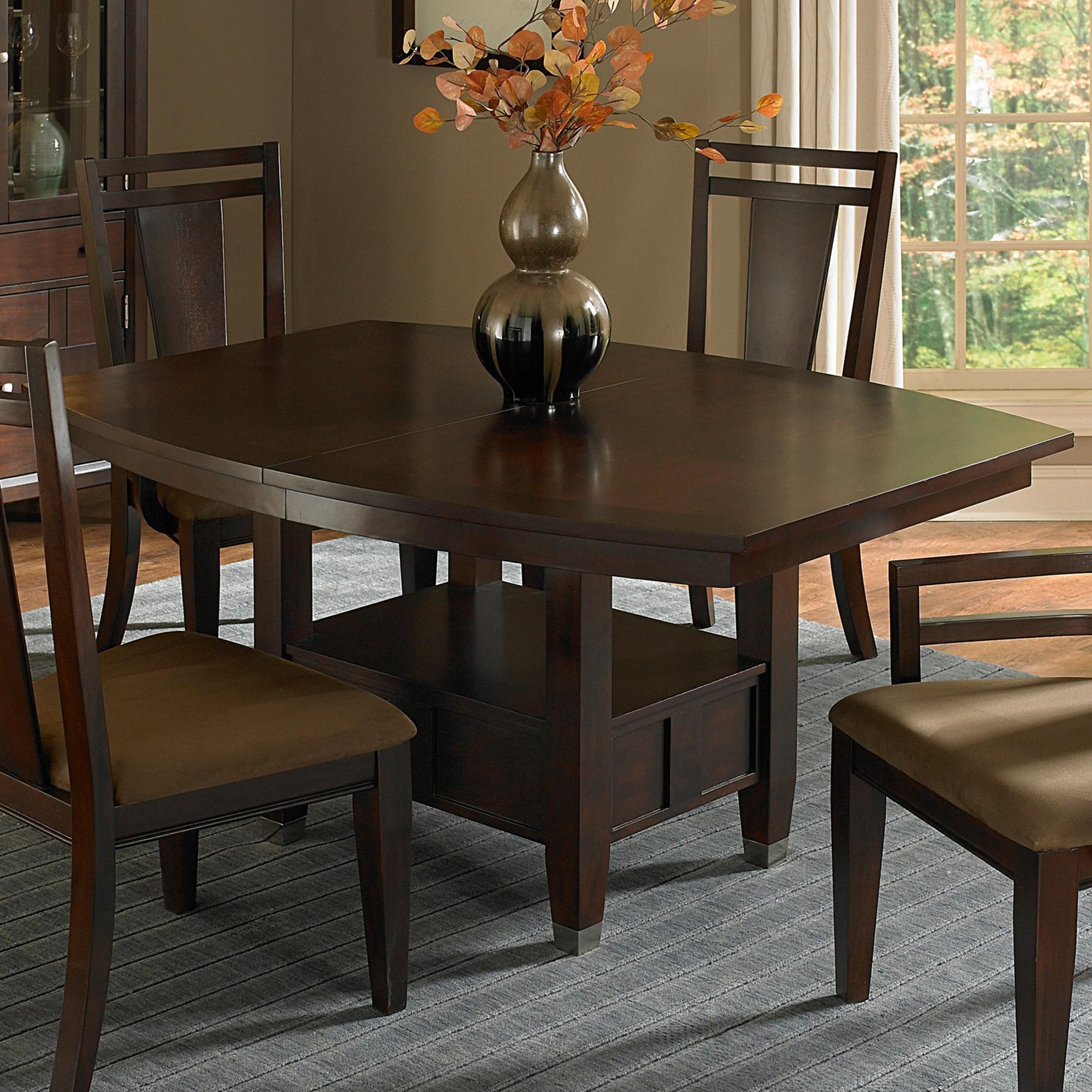 Broyhill Furniture Northern Lights Ajustable Height Dining Table With Storage Base