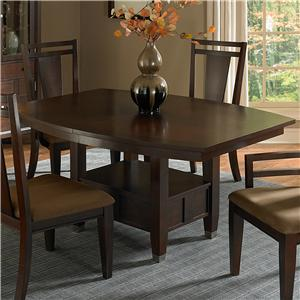 Broyhill Furniture Northern Lights 7 Piece Adjustable Height Dining ...