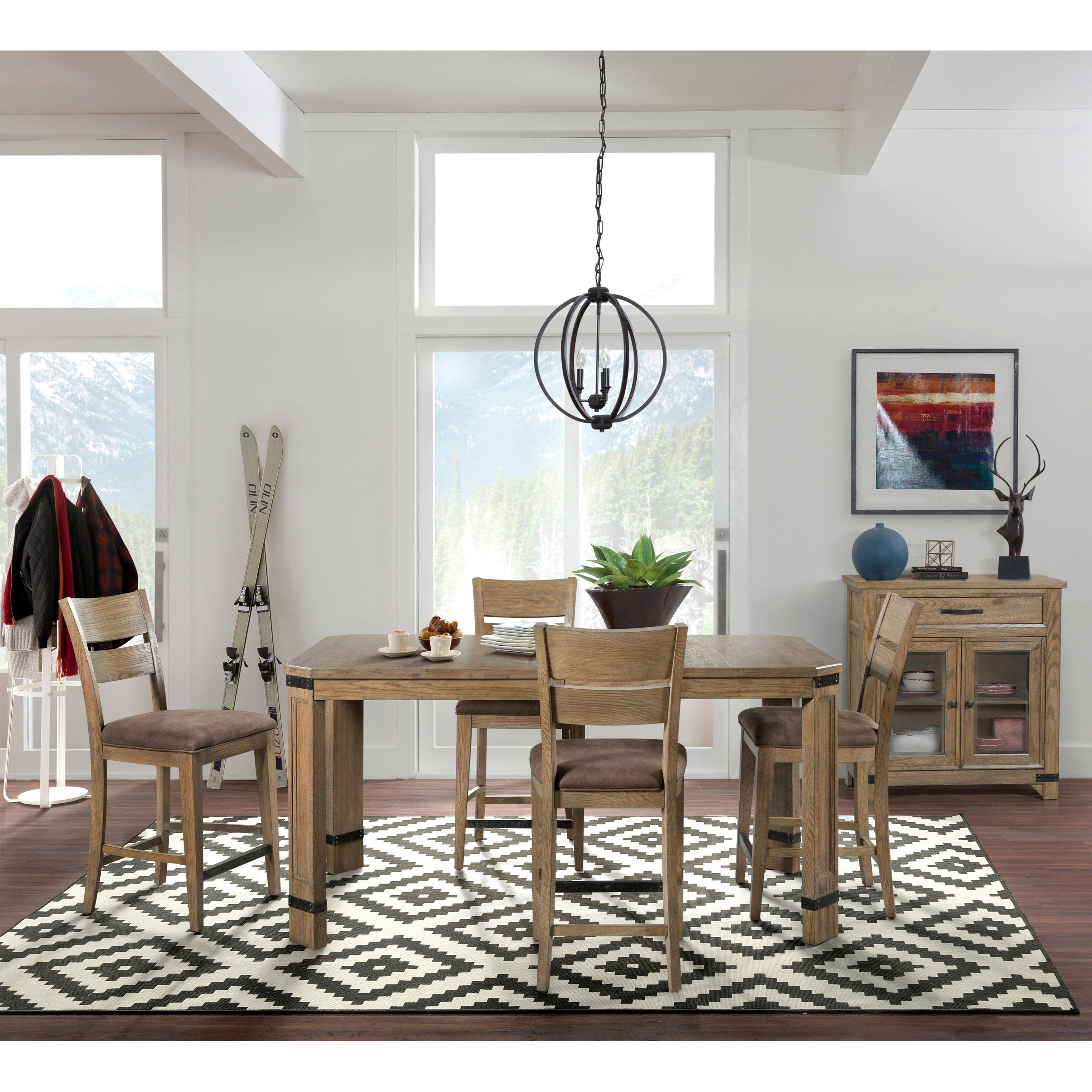 Broyhill Furniture Park City Casual Dining Room Group   Item Number: 4550 Dining  Room Group