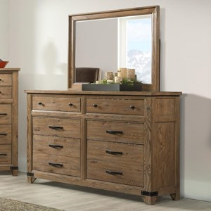 Broyhill Furniture Park City Dresser and Mirror Combo