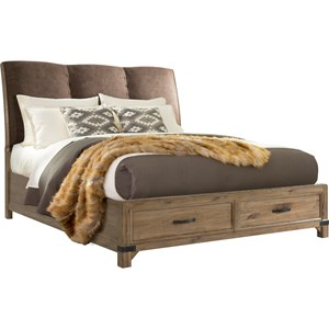 Broyhill Furniture Park City Queen Panel Storage Bed