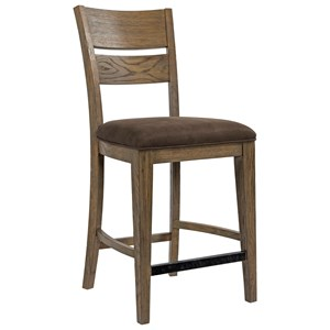 Broyhill Furniture Park City Upholstered Seat Counter Stool