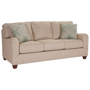 Broyhill Furniture Parker Traditional Good Night Queen Sleeper Sofa