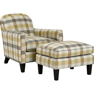 Broyhill Furniture Personalities Accent Chairs Squire Chair and Ottoman