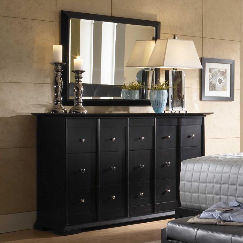 Broyhill Furniture Perspectives Dresser & Rectangular Mirror - AHFA ...