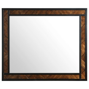 Broyhill Furniture Pieceworks Metal Mirror