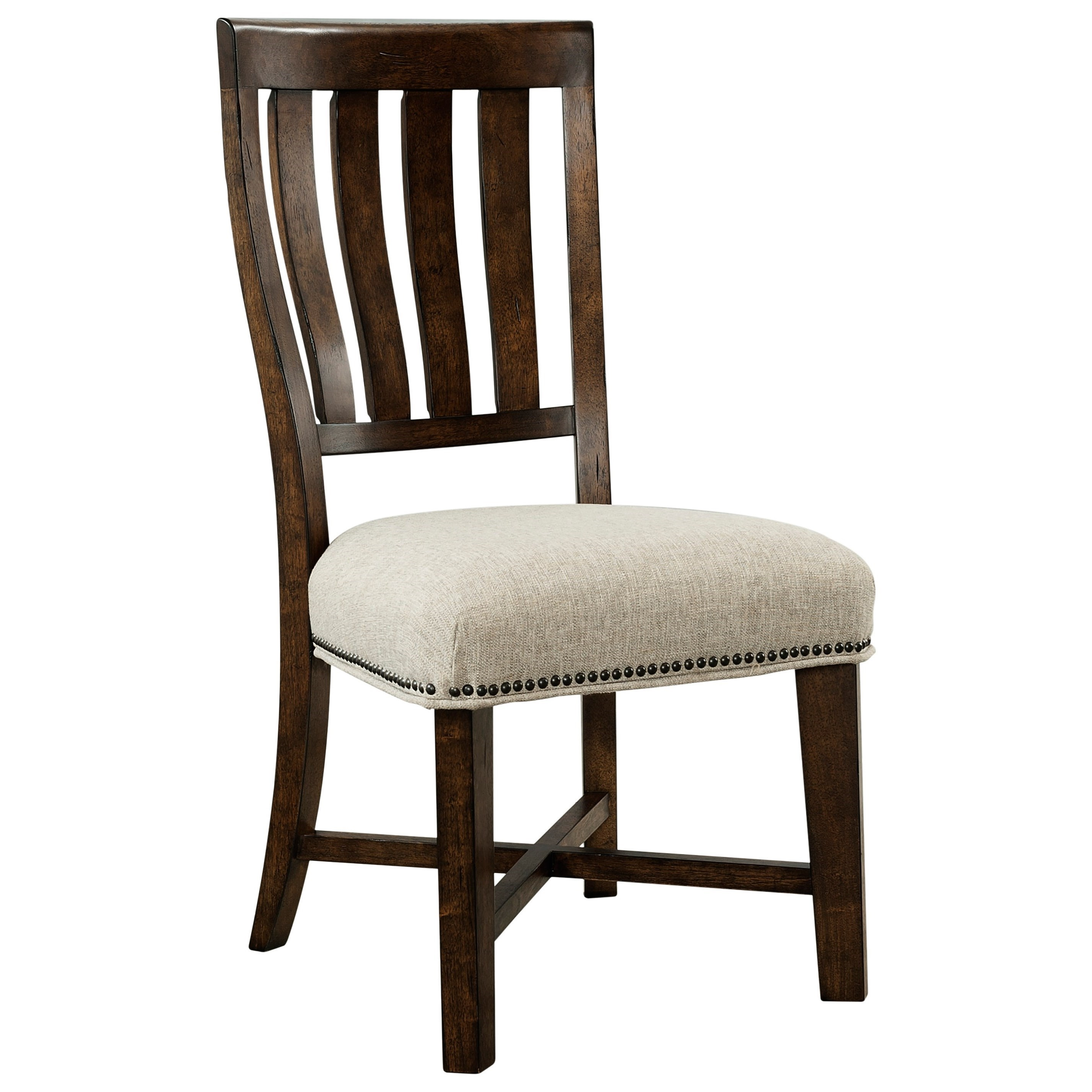 Broyhill Furniture Pieceworks 4546 581 Side Chair With Upholstered Seat John V Schultz