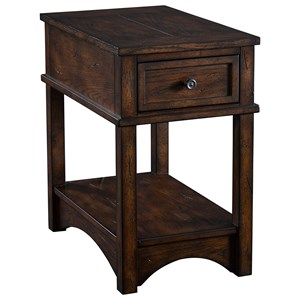 Broyhill Furniture Reclinermates Attic Rustic Finished Accent Table
