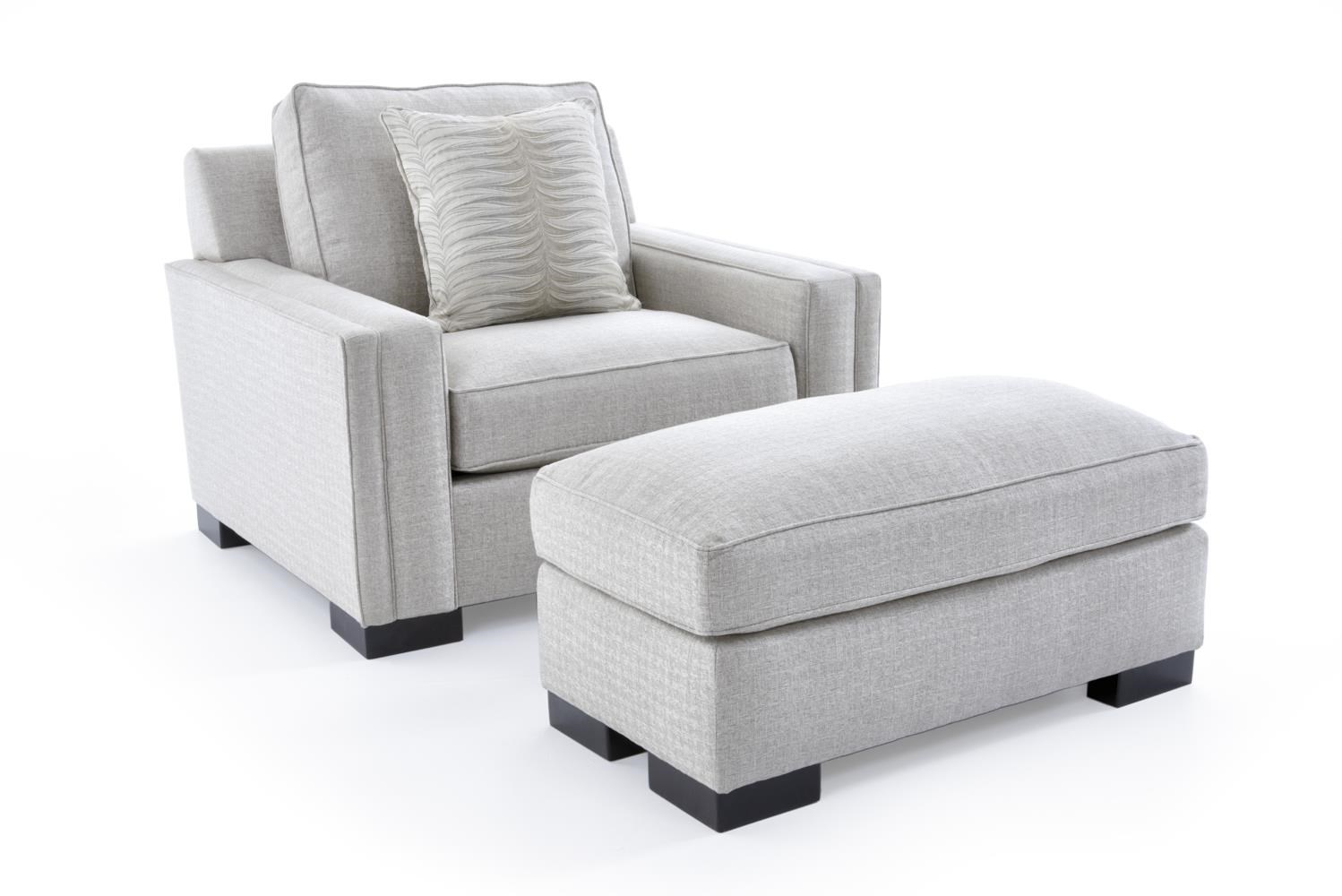Broyhill Furniture Rocco Chair & 1/2 and Ottoman - Item Number: 4280-0+4280-5 4697-92