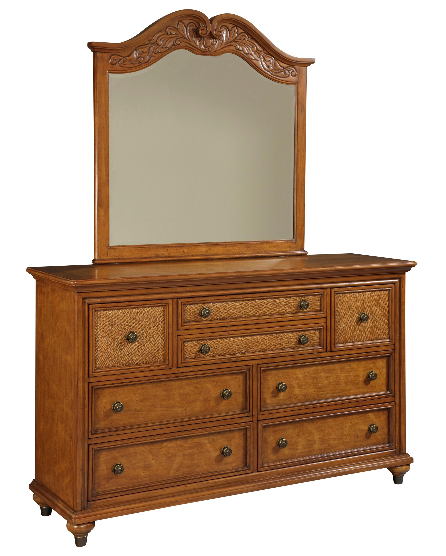 Broyhill Furniture Samana Cove Dresser & Mirror - Item Number: 4702-230+237
