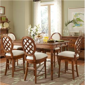 Broyhill Furniture Samana Cove 7 Piece Counter Height Table and Chairs