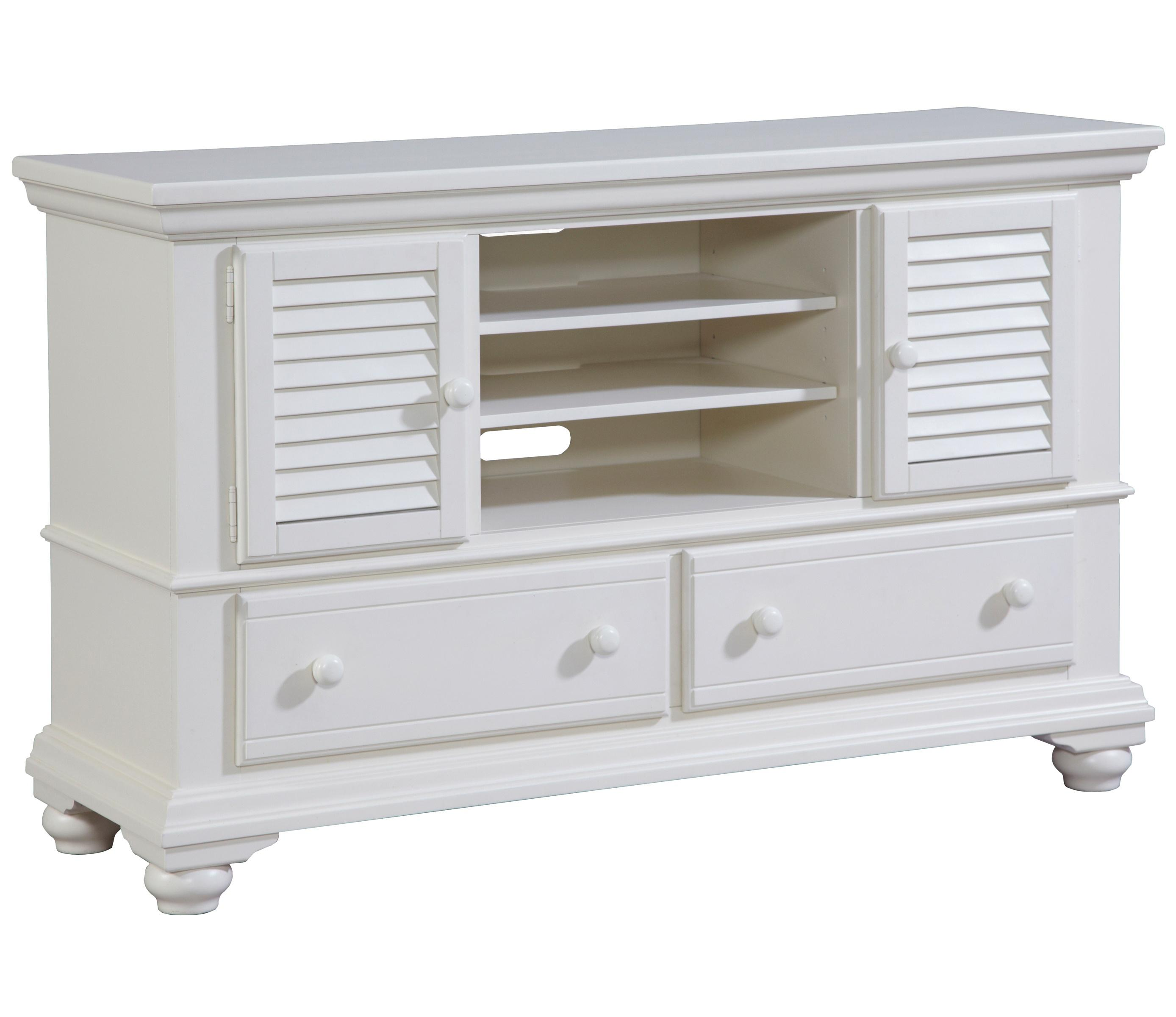 Seabrooke 2 Door Entertainment Console with Shutter Detail by Broyhill  Furniture at Baer\'s Furniture