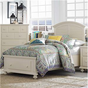 Broyhill Furniture Seabrooke Twin Panel Bed with Storage Footboard