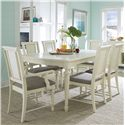 Broyhill Furniture Seabrooke 7 Piece Dining Table and Chair Set - Item Number: 4471-532+2x580+4x581