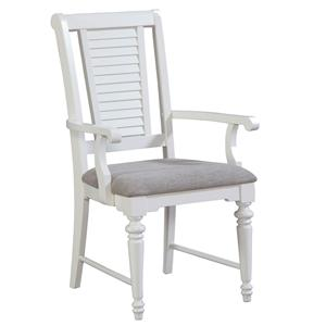 Broyhill Furniture Seabrooke Upholstered Dining Arm Chair