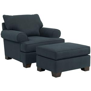 Broyhill Furniture Serenity Chair and Ottoman Combination