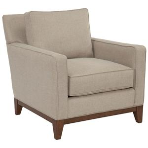 Broyhill designed by GlucksteinHome Suede Quinn Chair