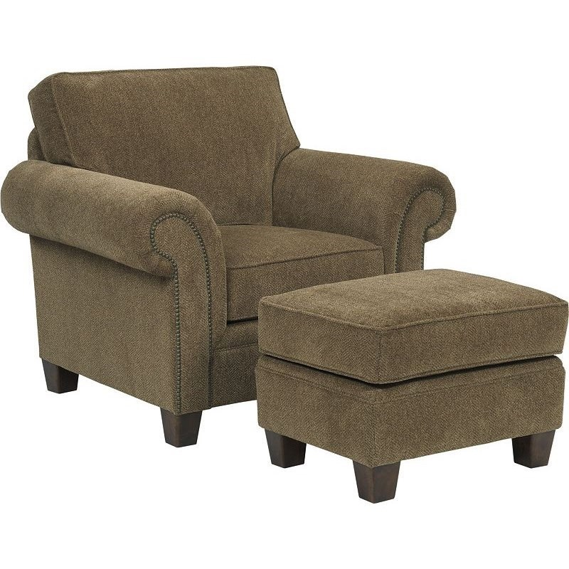 Broyhill Furniture Travis Transitional Upholstered Arm Chair With Rolled Arms Mueller