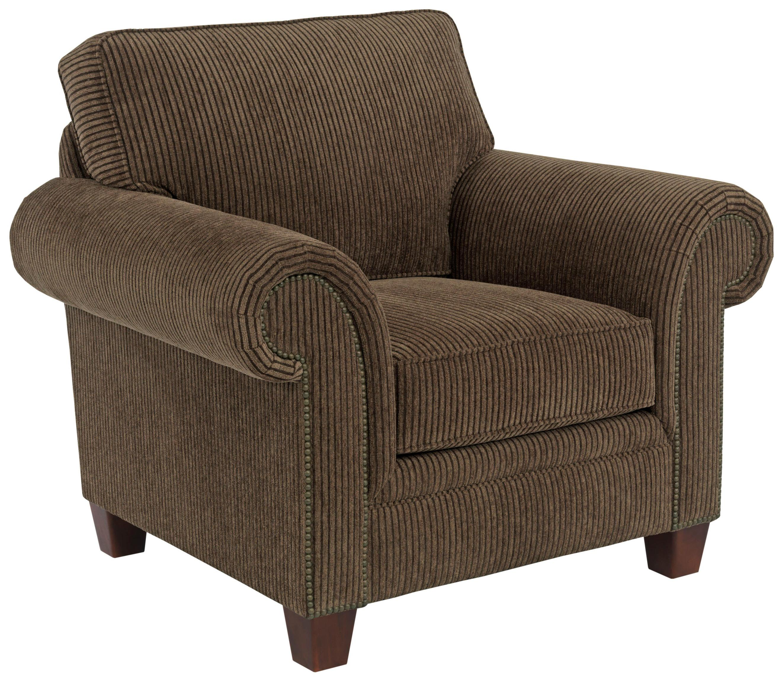 Broyhill Furniture Travis 7004 0 Transitional Upholstered Arm Chair With Rolled Arms John V