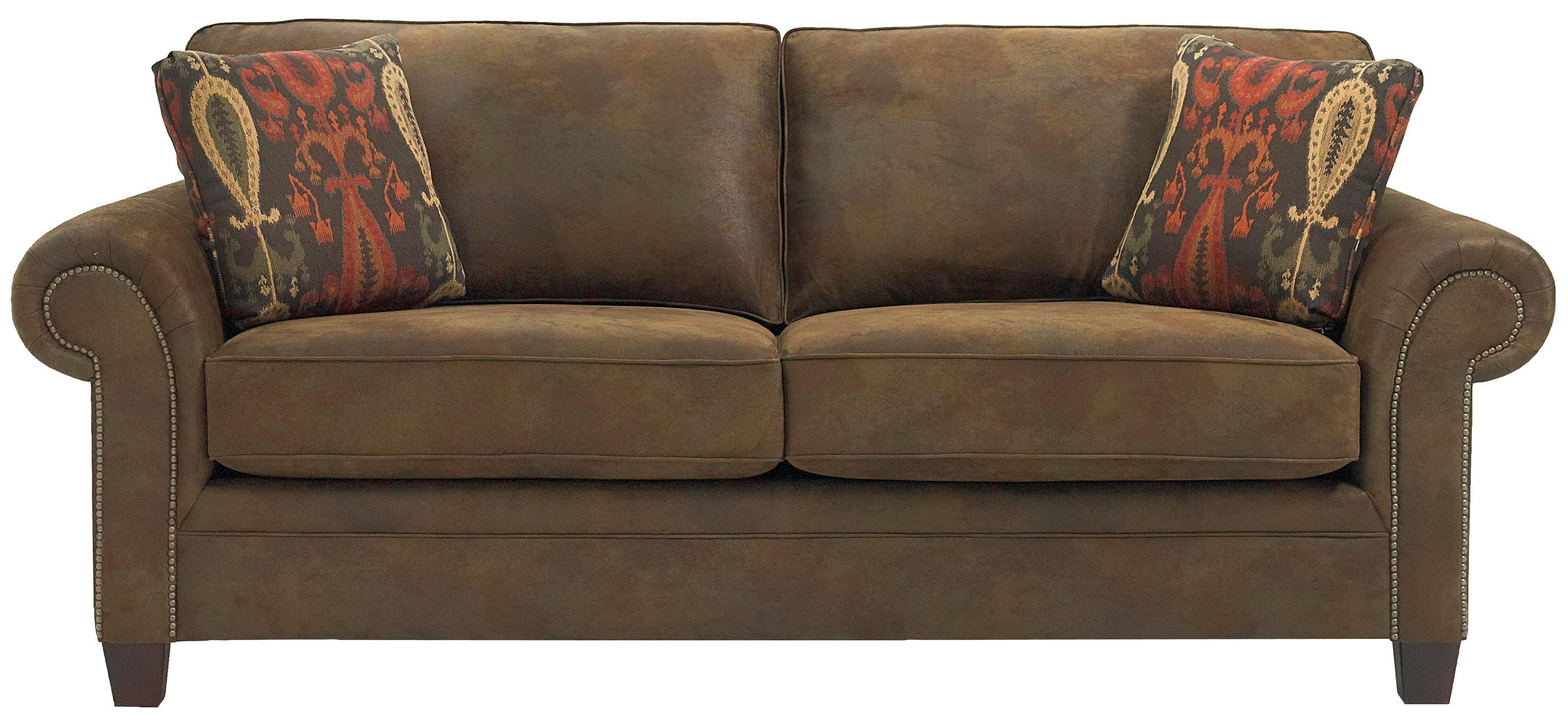 Broyhill Furniture Travis Transitional Sofa with Rolled Arms and ...