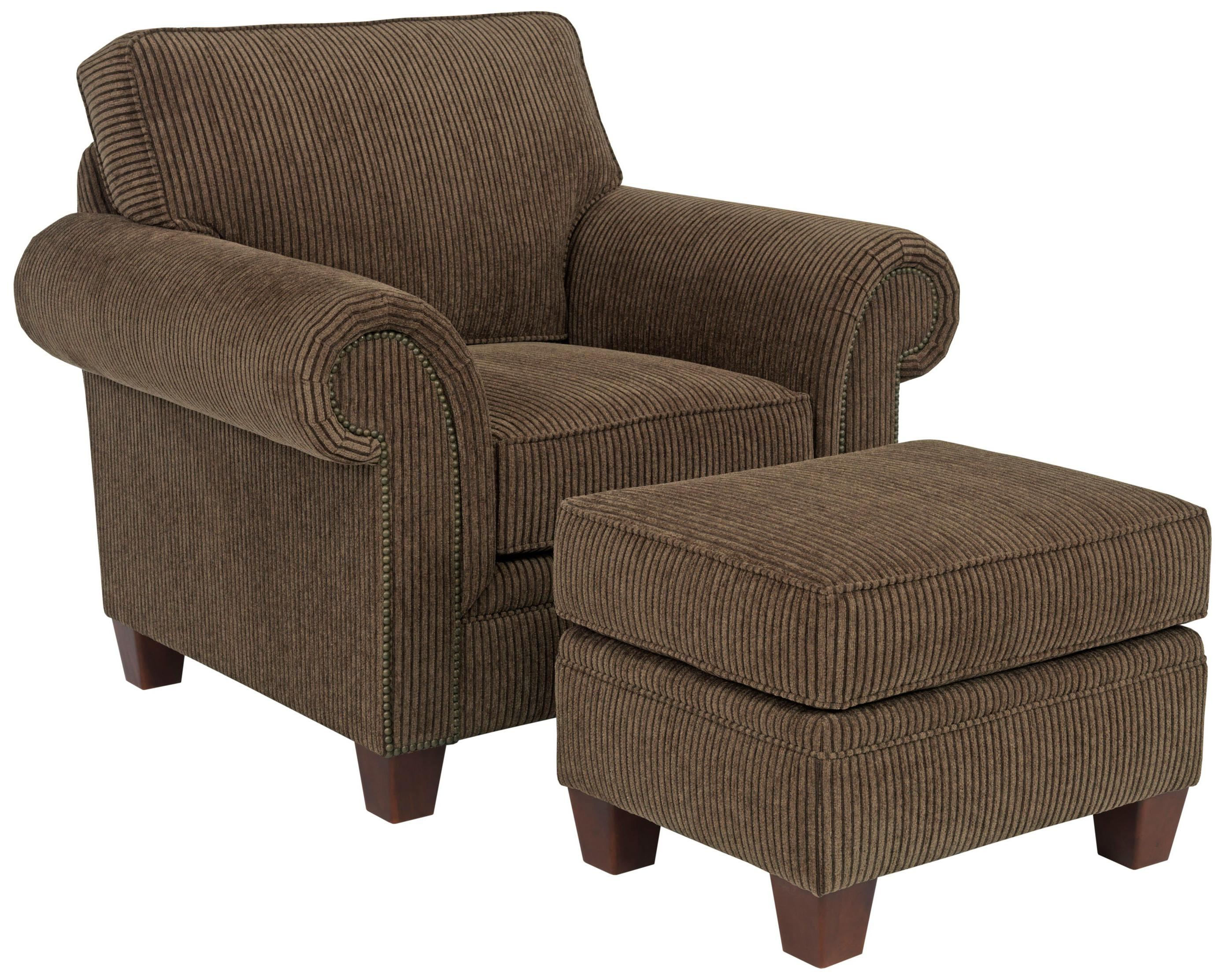 Broyhill Furniture Travis Rentangular Ottoman With Tapered