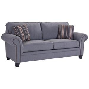 Broyhill Furniture Travis Transitional Queen Goodnight Sleeper Sofa