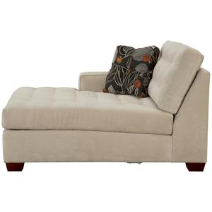 Contemporary Left Arm Facing Chaise With Tufted Cushions