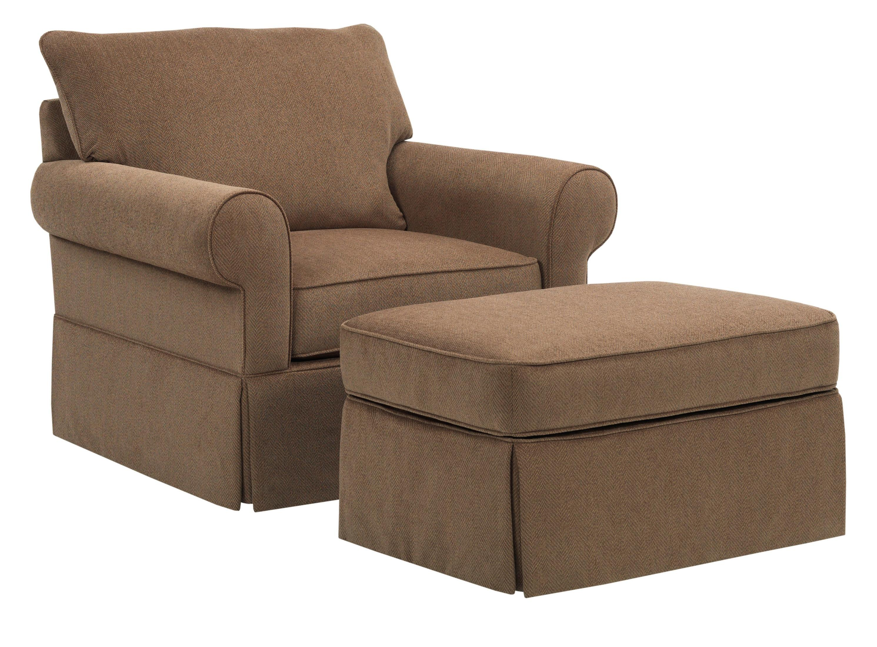 Broyhill Furniture Uptown Traditional Chair and Ottoman Set - Item Number: 4235-0+5-4075-84