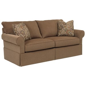 Broyhill Furniture Uptown Traditional Queen IREST Sleeper Sofa