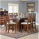 Broyhill Furniture Vantana Seven Piece Counter Height Table and Chair Set