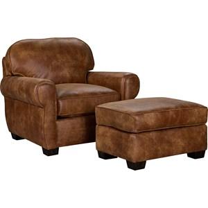 Broyhill Furniture Vedder Chair & Ottoman Set