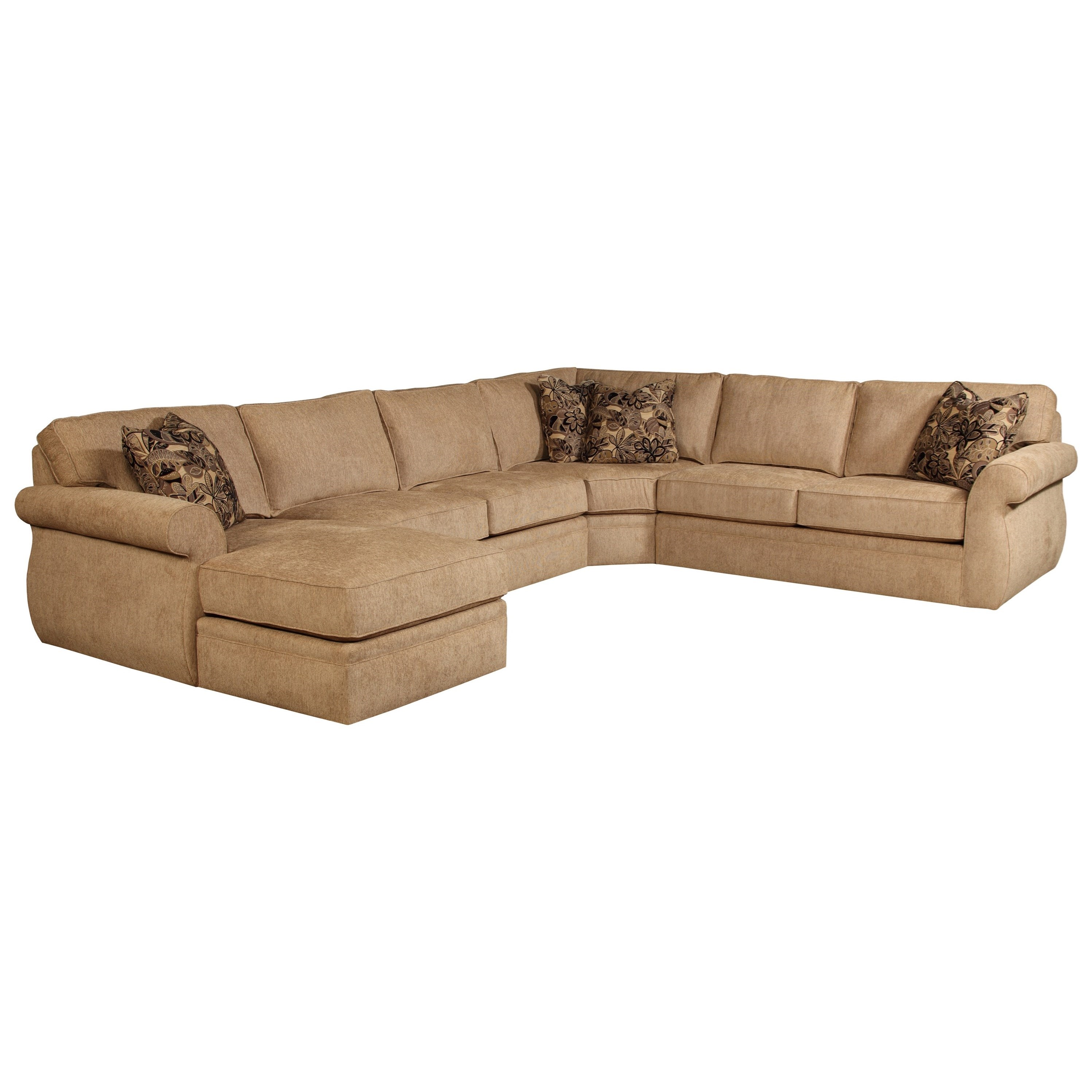 Broyhill furniture veronica chaise sectional sofa for Broyhill caitlyn chaise