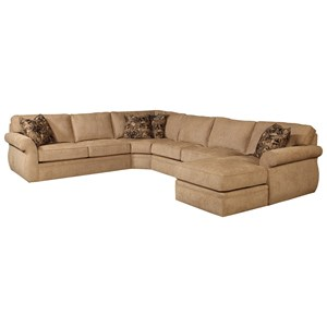 Broyhill furniture veronica chaise sectional with sleeper for Broyhill chaise lounge cushions
