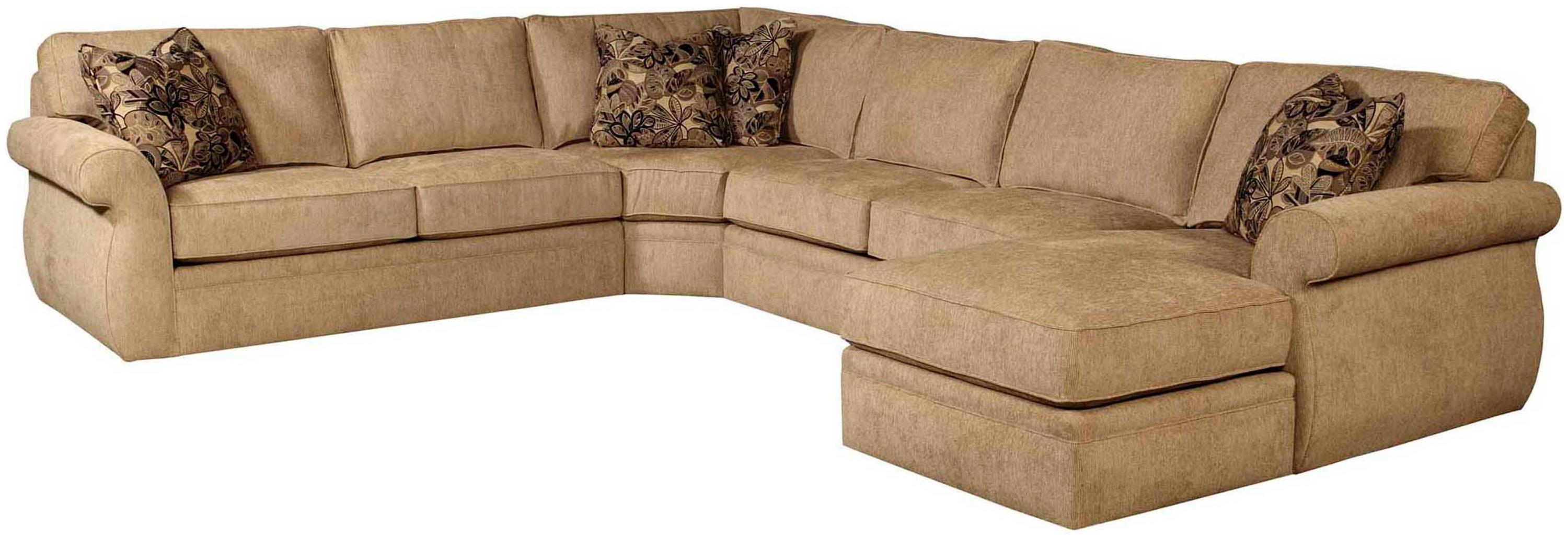 Broyhill furniture veronica chaise sectional with sleeper for Broyhill caitlyn chaise