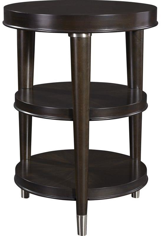 Broyhill Furniture Vibe Round Chairside Table - Item Number: 3186-004