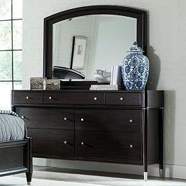 Broyhill Furniture Vibe Seven Drawer Dresser and Mirror - Item Number: 4257-230+236